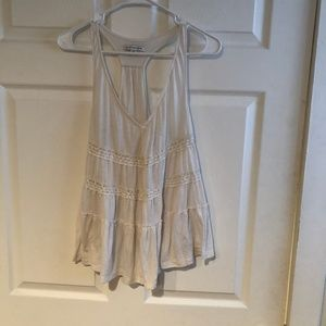 American Eagle Lace Inset Tiered Tank
